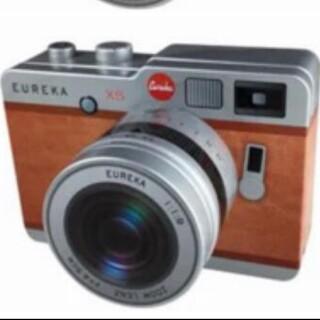 カルディ(KALDI)のカメラ缶 チョコレート ブラウン 望遠レンズタイプ(菓子/デザート)