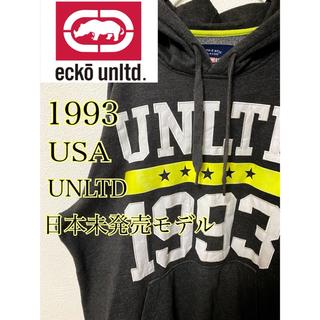エコーアンリミテッド(ECKO UNLTD)のeckoエコーアンリミテッド 1993パーカー XLサイズ 90s 刺繍ワッペン(パーカー)