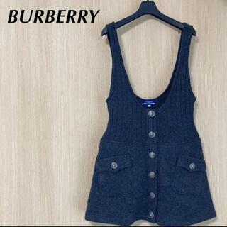 バーバリーブルーレーベル(BURBERRY BLUE LABEL)のBURBERRY バーバリー レディース 38 スカート サロペット ワンピース(ミニワンピース)