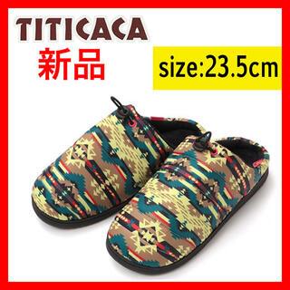 チチカカ(titicaca)の新品 キルティングサンダル ナバホ 23.5cm チチカカ TITICACA(サンダル)