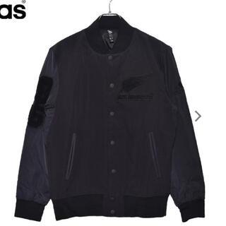アディダス(adidas)のアディダス オールブラックス ジャケット(スタジャン)