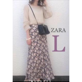 ZARA - 【新品・未使用】ZARA 花柄 スカート  L