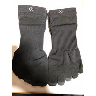 シースリーフィット(C3fit)のC3fit  ランニングソックス 2足セット 黒 ブラック サイズM 新品未使用(ソックス)