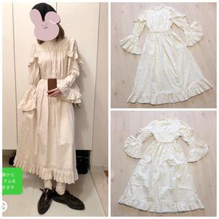 moussy - MOUSSY LACE RUFFLE LONG ドレス