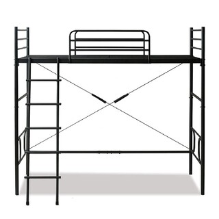 ロフトベッド 黒 ベッド(ロフトベッド/システムベッド)