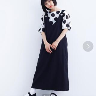 メルロー(merlot)のmerlot サロペットスカート 黒(サロペット/オーバーオール)