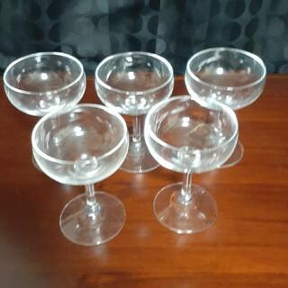 東洋佐々木ガラス - シャンパングラス ソーサー型5個セット