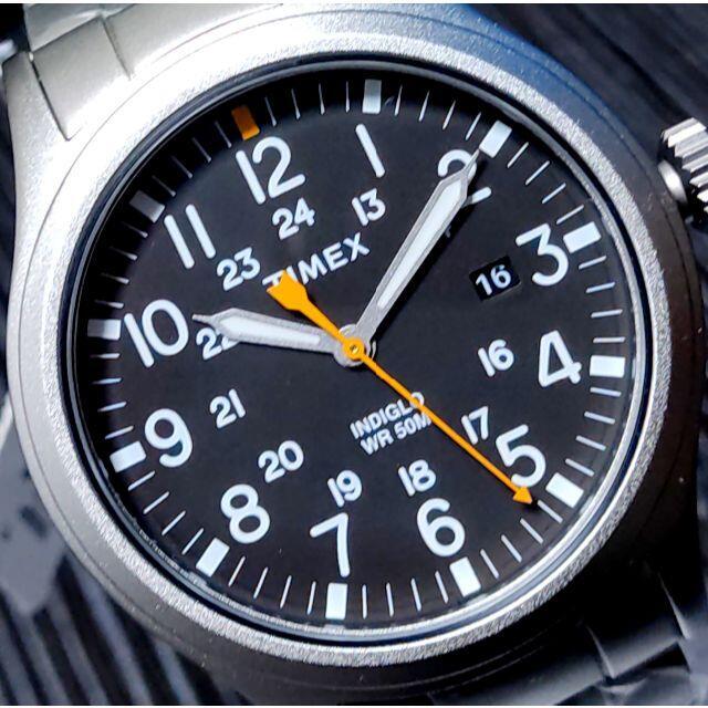 TIMEX(タイメックス)のTIMEX タイメックス Allied ブラック×シルバー INDIGLO メンズの時計(腕時計(アナログ))の商品写真
