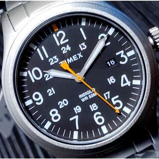 タイメックス(TIMEX)のTIMEX タイメックス Allied ブラック×シルバー INDIGLO(腕時計(アナログ))