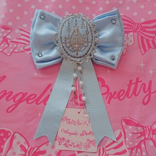 アンジェリックプリティー(Angelic Pretty)の新品タグ付き シャンデリアリボンブローチ(ブローチ/コサージュ)