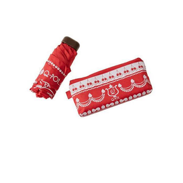 Q-pot.(キューポット)のキューポット チェリーホイップ 傘 アンブレラ 新品 Q−pot レディースのファッション小物(傘)の商品写真