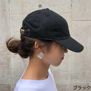 新品 ニューハッタン キャップ 帽子 cap レディースメンズ兼用 黒 ブラック(キャップ)
