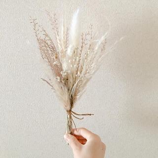 穂と小花のミニブーケ(ドライフラワー)