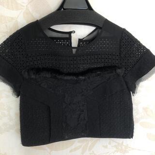 デイシー(deicy)のデイシー 黒 トップス レース(Tシャツ(半袖/袖なし))