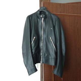 ディオールオム(DIOR HOMME)のディオールオム レザーブルゾン サイズ 44  ジャケットコートシャツデニム(ブルゾン)