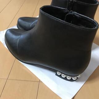 コウベレタス(神戸レタス)の神戸レタス パール付きブーツ M 黒(ブーツ)