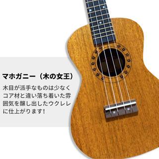 ウクレレ 初心者セット コンサートウクレレ マホガニー材 23インチウクレレ(コンサートウクレレ)
