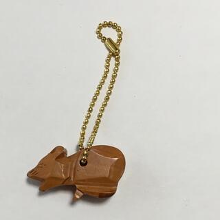 木彫り ネズミ キーホルダー(キーホルダー)
