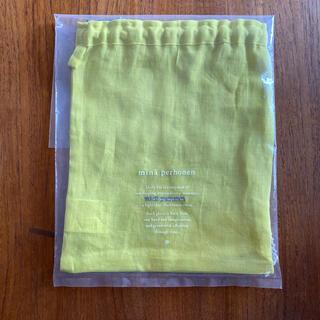 ミナペルホネン(mina perhonen)のミナペルホネン  リネンポーチ 巾着 タグ付 新品未使用(ポーチ)