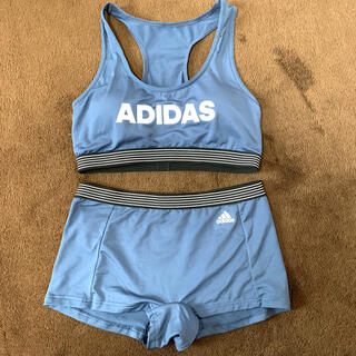 アディダス(adidas)のadidas スポーツブラショーツセット Mサイズ⭐︎新品未使用(ブラ&ショーツセット)
