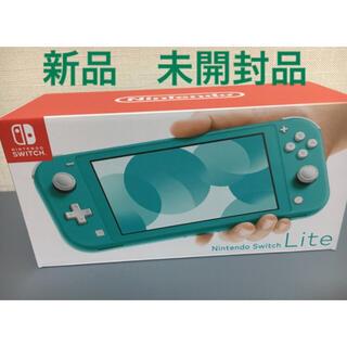 ニンテンドースイッチ(Nintendo Switch)の新品 未開封品 Nintendo Switch Lite ターコイズ(携帯用ゲーム機本体)