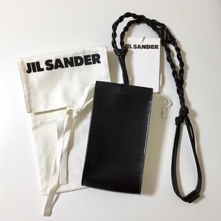 Jil Sander - JIL SANDER ジルサンダー ブラック Tangle スマホケース バッグ