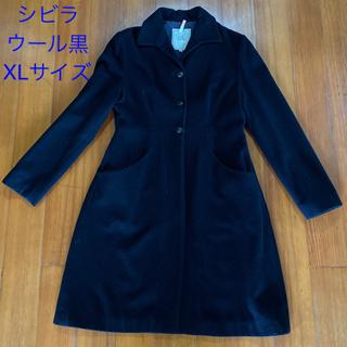 シビラ(Sybilla)のシビラ sybilla  ウールコート 黒 ジャケット(ロングコート)