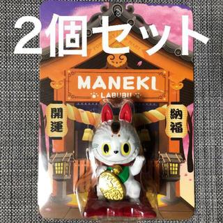 メディコムトイ(MEDICOM TOY)のPOP MART LABUBU招き猫 ポップマート ラブブ ダルマ 達磨(キャラクターグッズ)