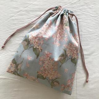 残りわずかです*リバティ巾着袋 ハンドメイド Archive Lilac 復刻色(外出用品)