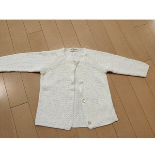 センスオブワンダー(sense of wonder)のセンスオブワンダー カーディガン 羽織物 白 子供服 サイズ100(カーディガン)