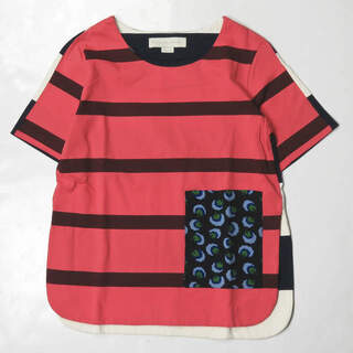ステラマッカートニー(Stella McCartney)のStella McCartney フラワーポケットボーダーカットソー 半袖(Tシャツ(半袖/袖なし))