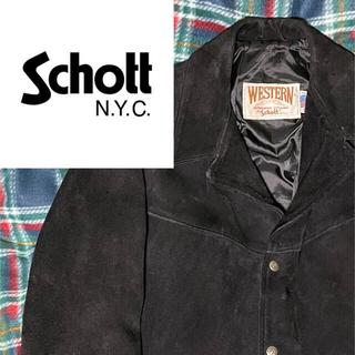 ショット(schott)の【大特価】schott western スエードレザージャケット ショット(レザージャケット)