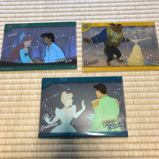 Disney(ディズニー)のミニクリアファイルコレクション ディズニープリンセス クリアファイル セット エンタメ/ホビーのアニメグッズ(クリアファイル)の商品写真