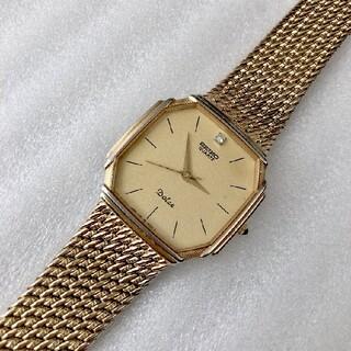 セイコー(SEIKO)のSEIKO  Dolce メンズクォーツ腕時計 稼動品 ゴールド色基調(腕時計(アナログ))