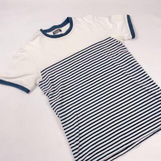 アルチュザラ(Altuzarra)のzara ホワイト ネイビーライン ポロシャツ 半袖 Mサイズ(ポロシャツ)