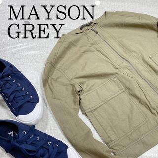 メイソングレイ(MAYSON GREY)の【MAYSON GREY】カーキーシャツ チャック有り Mサイズ(シャツ/ブラウス(長袖/七分))