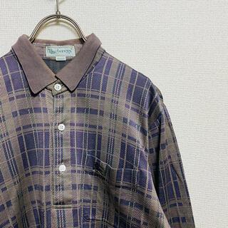 BURBERRY - 一点物 90年代vintage バーバリー 騎士ロゴ ノバチェック ポロシャツ