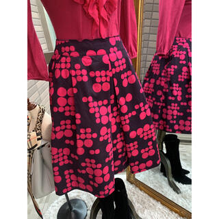 マッキントッシュフィロソフィー(MACKINTOSH PHILOSOPHY)の綺麗なお姉さんの華やかなマッキントッシュフィロソフィー個性スカート(ひざ丈スカート)