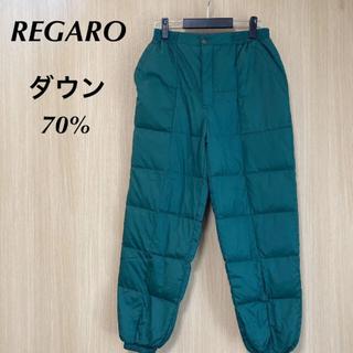 REGARO メンズ ダウンパンツ L 厚手 中綿 ロング キルティング 冬(その他)