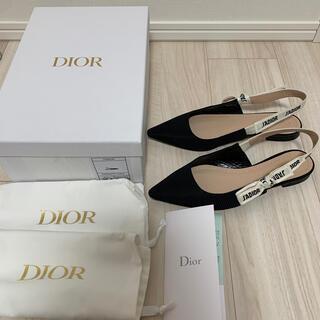 ディオール(Dior)のdior バレエ フラットシューズ パンプス 36.5 ディオール(バレエシューズ)