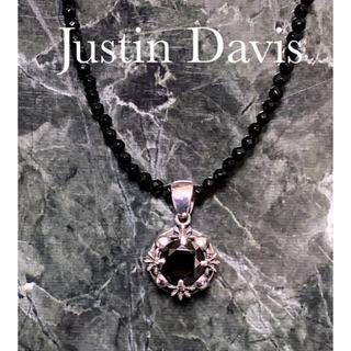 ジャスティンデイビス(Justin Davis)のJUSTIN DAVIS / FUTURE WHEEL PENDANT 黒 美品(ネックレス)