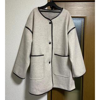 グレイル(GRL)のパイピングコート(ノーカラージャケット)