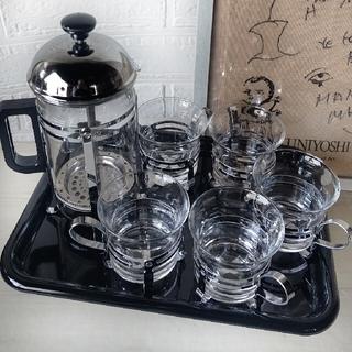 紅茶でもコーヒーでもどうぞ!エレーナティー/コーヒーサーバー&カップトレーセット(その他)