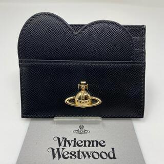 ヴィヴィアンウエストウッド(Vivienne Westwood)のVivienne Westwood  カードケース ハート ♡ ブラック 黒(パスケース/IDカードホルダー)