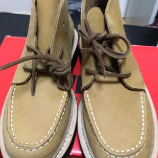 ウルヴァリン(WOLVERINE)のほぼ新品 wolverine ウルバリン ブーツ ヌメ革 ベージュ 26.0cm(ブーツ)