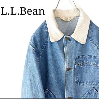 エルエルビーン(L.L.Bean)の【希少】エルエルビーン ハンティングジャケット デニム カバーオール 80s(Gジャン/デニムジャケット)