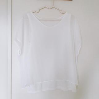 ジーユー(GU)のg.u.シースルートップス(シャツ/ブラウス(半袖/袖なし))