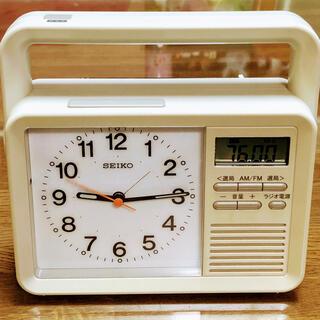 セイコー(SEIKO)の【美品】SEIKO セイコー クロック多機能防災目覚まし時計 (動作確認済み)(置時計)