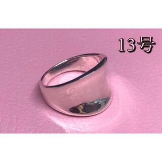逆甲丸 反り返った指輪 ワイド 幅広 シルバー925リング  銀指輪スターリング(リング(指輪))