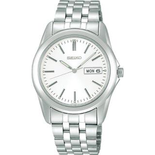 セイコー(SEIKO)のセイコー メンズ腕時計 白文字盤 日常生活防水 SCXC007(腕時計(アナログ))